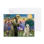 St. Francis & Great Pyrenees Greeting Cards (Pk o