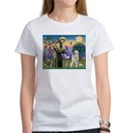 St. Francis & Great Pyrenees Women's T-Shirt