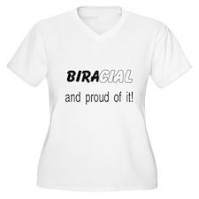 Biracial (black & white) Plus Size V-Neck T-Sh