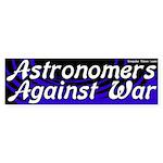 Astronomers against war bumpersticker