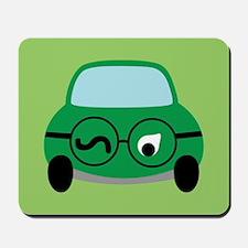 Green Car Mousepad