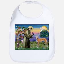 St Francis / Greyhound (f) Bib