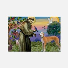 St Francis / Greyhound (f) Rectangle Magnet (10 pa