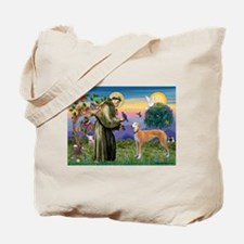 St Francis / Greyhound (f) Tote Bag