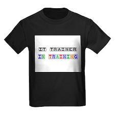 It Trainer In Training Kids Dark T-Shirt