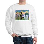St Francis / 2 Irish Wolfhounds Sweatshirt