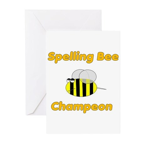 Spelling Bee Champion Greeting Cards (Pk of 10