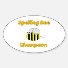 Spelling Bee Champion Oval Decal