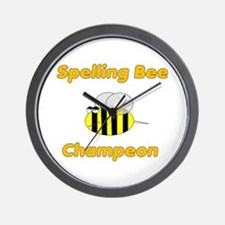 Spelling Bee Champion Wall Clock