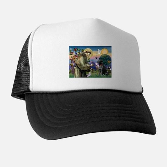 St Francis Black Lab Trucker Hat