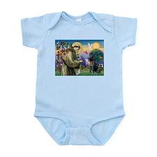 Saint Francis & Black Lab Infant Bodysuit