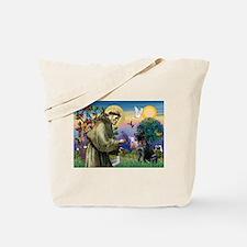Saint Francis & Black Lab Tote Bag