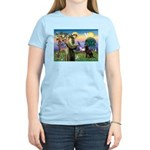 St Francis Chocolate Lab Women's Light T-Shirt