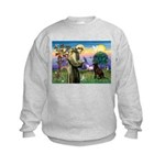 St Francis Chocolate Lab Kids Sweatshirt