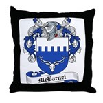 McBarnet Family Crest Throw Pillow