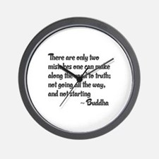 Buddhist Quote: Two mistakes on the roa Wall Clock