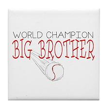 Baseball Big Brother Tile Coaster