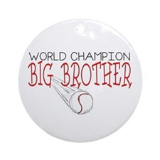 Baseball Big Brother Ornament (Round)