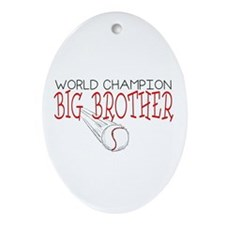 Baseball Big Brother Oval Ornament