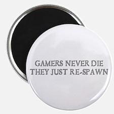 """gamers Never Die 2.25"""" Magnet (10 pack)"""