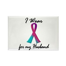 Thyroid Ribbon 1 (Husband) Rectangle Magnet