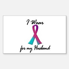 Thyroid Ribbon 1 (Husband) Rectangle Decal