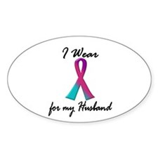 Thyroid Ribbon 1 (Husband) Oval Decal