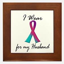 Thyroid Ribbon 1 (Husband) Framed Tile