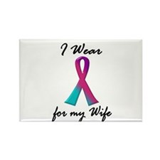 Thyroid Ribbon 1 (Wife) Rectangle Magnet