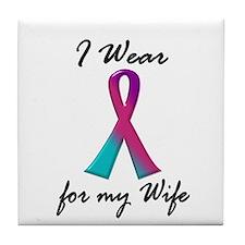 Thyroid Ribbon 1 (Wife) Tile Coaster