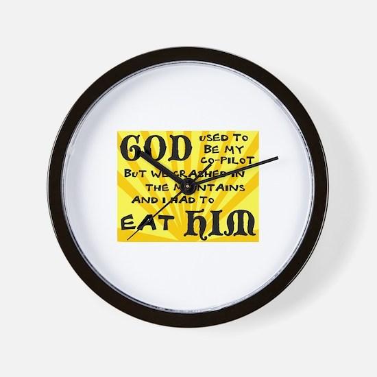 God was my Co-Pilot Wall Clock