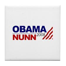 Obama Nunn 2008 Tile Coaster