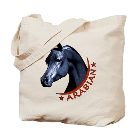Black Arabian Stallion Tote Bag