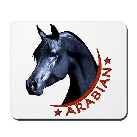 Black Arabian Stallion Mousepad