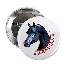"Black Arabian Stallion 2.25"" Button"
