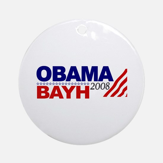 Obama Bayh 2008 Ornament (Round)