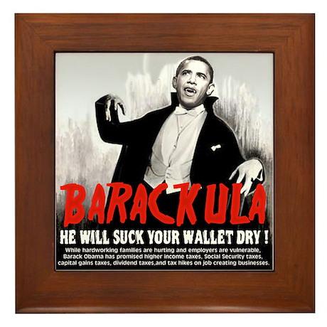 anti obama humor Framed Tile