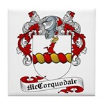 McCorquodale Family Crest Tile Coaster