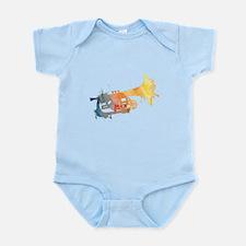 Paint Splat Mellophone Infant Bodysuit