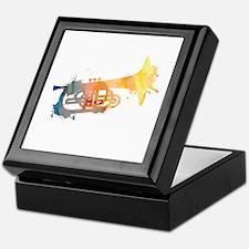 Paint Splat Mellophone Keepsake Box