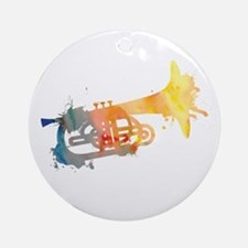Paint Splat Mellophone Ornament (Round)