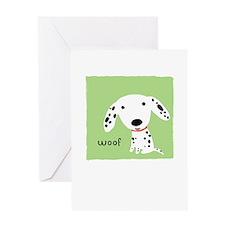 Dalmatian Woof Greeting Card