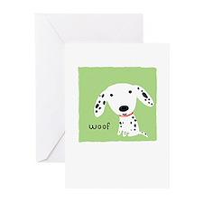 Dalmatian Woof Greeting Cards (Pk of 10)