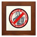 FBI WMD Unit Framed Tile