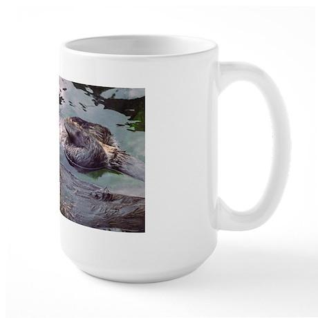 Sea Otter Love Large Mug