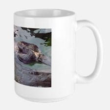 Sea Otter Love Large Mug