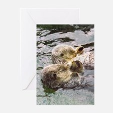 Sea Otter Love Greeting Cards (Pk of 10)