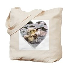 Sea Otter Love Tote Bag