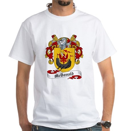 McDonald Family Crest White T-Shirt
