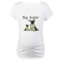 Dogs GS Big Sister Maternity T-Shirt